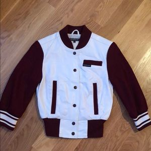 Members Only varsity leather jacket